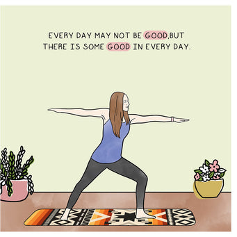Big Raven Yoga Good in Every Day Doodle Card