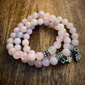 Big Raven Yoga Pink Happy Stack Bracelet