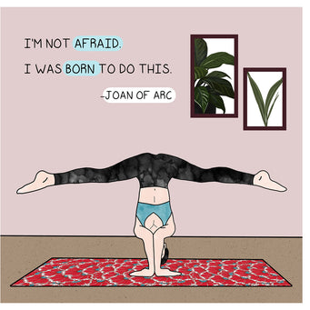 Big Raven Yoga I'm Not Afraid Doodle Card