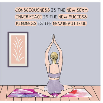 Big Raven Yoga Kindness Is The New Beautiful Doodle Card