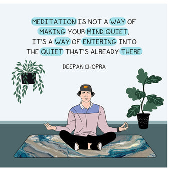 Big Raven Yoga Meditation is Not A Way of Making Your Mind Quiet Doodle Card