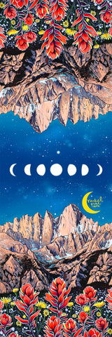 Big Raven Yoga Mt. Whitney Moons by Rachel Pohl Yoga Mat