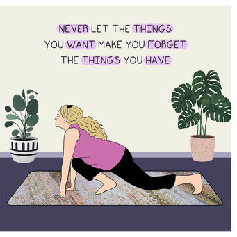 Big Raven Yoga Never Let Things Doodle Card