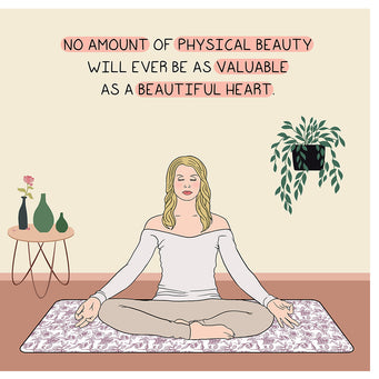 Big Raven Yoga No Amount of Physical Beauty Doodle Card