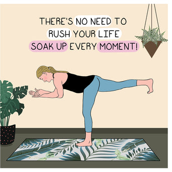 Big Raven Yoga No Need To Rush Doodle Card