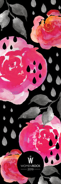 Women Rock! Raindrops on Roses Yoga Mat