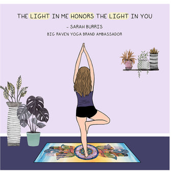 Big Raven Yoga The Light in Me Doodle Card