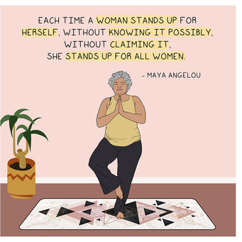 Big Raven Yoga She Stands Up For All Women Doodle Card