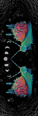 Big Raven Yoga Snails in Space by Lyn Sweet Yoga Mat