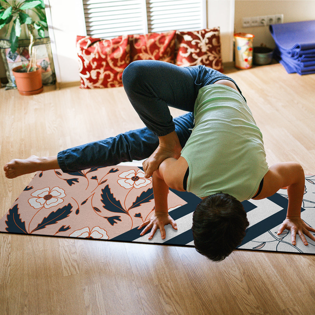 Yoga Mat In Use