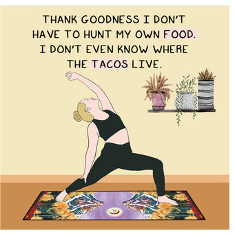 Big Raven Yoga Thank Goodness Doodle Card