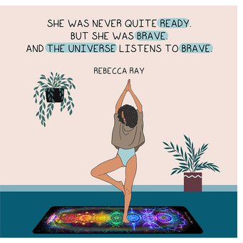 Big Raven Yoga The Universe Listens to Brave Doodle Card