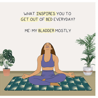 Big Raven Yoga What Inspires You To Get Out of Bed Doodle Card
