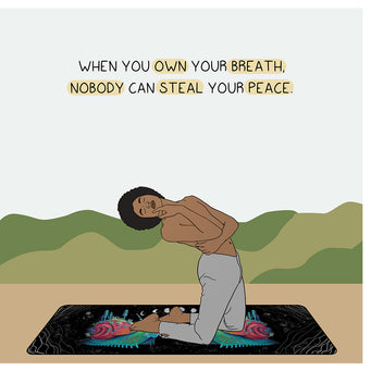 Big Raven Yoga When You Own Your Breath Doodle Card