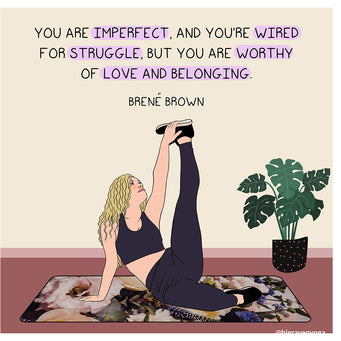 Big Raven Yoga Worthy of Love and Belonging Doodle Card