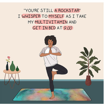 Big Raven Yoga You're Still A Rockstar Doodle Card