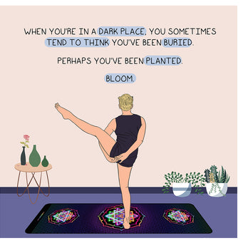 Big Raven Yoga You've Been Planted Doodle Card