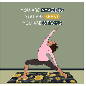 Big Raven Yoga You Are Amazing Doodle Card