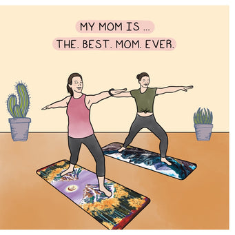 Big Raven Yoga My Mom is the Best Doodle Card