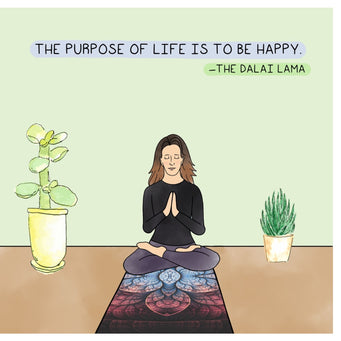 Big Raven Yoga The Purpose of Life Doodle Card