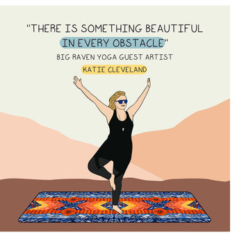 Big Raven Yoga Something Beautiful In Obstacle Doodle Card