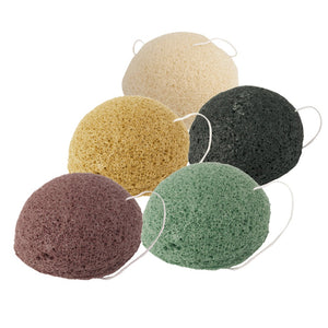 Natural Konjac Sponge,Facial Care,Cleaning Washing Sponge, Puffy, Deeply Cleansing Pores