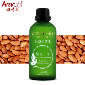 Sweet Almond Base Oil,Hydrating Moisturizing Skin/Hair Care,Facial Massage Oil