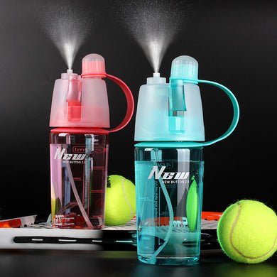 Sports Spray Water Bottle, Dual-use,Outdoors, Moisturizing,Travel,Camping, Drinkware
