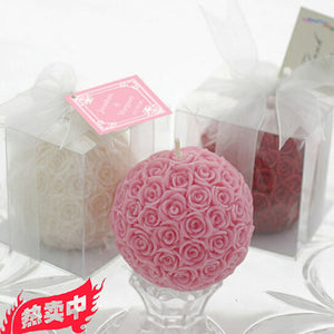 wedding decoration, gifts, romantic aromatherapy, smoke-free rose ball scented candle
