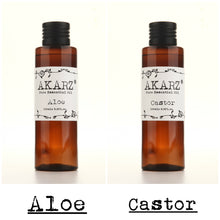 AKARZ,  natural aloe & castor essential  oils, natural aromatherapy high-capacity skin & body care, massage, spa