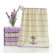 Beautiful Skin, Pure Cotton,Absorbent, Antibacterial,Soft, Embroidered Lavender Aromatherapy Towel