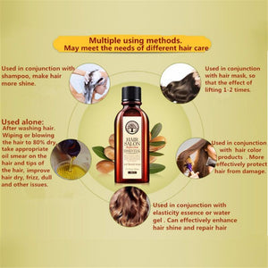 Hot! Hair Care, Moroccan Pure Argan Oil, Hair Essential Oil For Dry Hair Types HOT