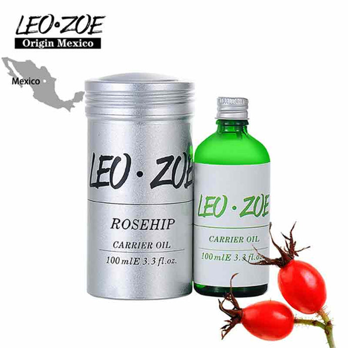 LEOZO, Pure Rosehip Oil Certificate Of Origin Mexico High Quality Carrier Rosehip Essential Oil 100ml Massage Oil
