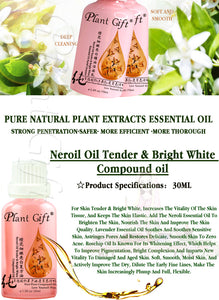 Plant Gift, Natural 100% Pure Neroil Tender & Bright White Essential Oil 7 Pieces Set, Moisturizing Skin Care, Massage
