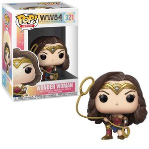 Pop! Heroes WW84 Wonder Woman with Lasso Vinyl Figure