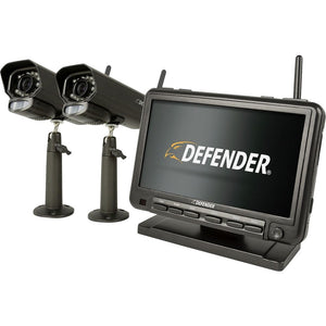 "Defender - PhoenixM2 Digital Wireless 7"" Monitor DVR Security System with 2 Long-Range Night Vision Cameras and SD Card Recording - Black"