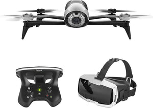 Parrot - Bebop 2 Quadcopter with Skycontroller 2 and Cockpit FPV Glasses - White