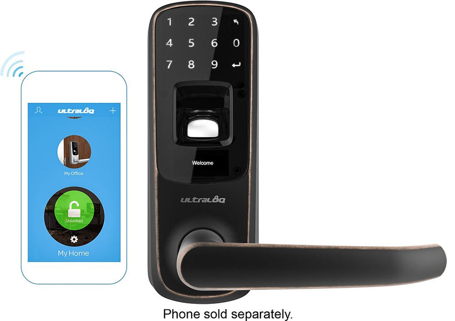 ULTRALOQ - Ultraloq Bluetooth Electronic and Biometric Smart Door Lock - Aged bronze