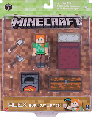Jazwares - Minecraft Series 3 Survival Pack - Styles May Vary
