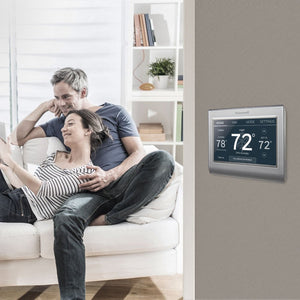 Honeywell - Smart Color Thermostat with Wi-Fi Connectivity - Silver