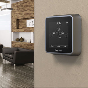 Honeywell - T5+ Smart Programmable Touch-Screen Wi-Fi Thermostat - Black / Gray