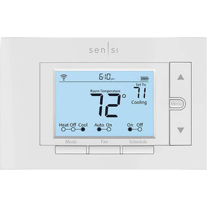 Sensi - Smart Programmable Wi-Fi Thermostat - White