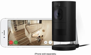Ring - Stick Up Indoor/Outdoor Wired Security Camera - Black