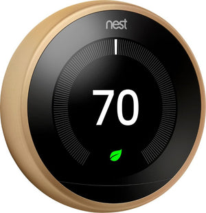 Nest - Learning Thermostat - 3rd Generation - Brass