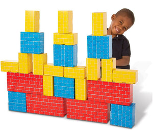 Melissa & Doug - Cardboard Blocks - Blue/Yellow/Red