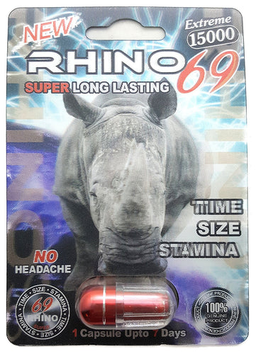Genuine Rhino 69 Extreme 15000 Male Enhancement Sexual Performance Enhancer