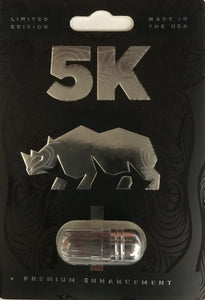 Genuine Black Rhino 5K Premium Male Enhancement Sexual Performance Enhancer Limited Edition