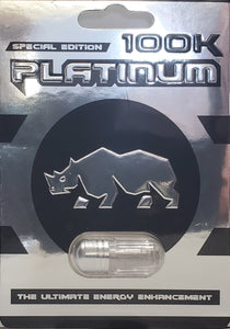 Genuine 100K Platinum Rhino Special Edition Male Enhancement Sexual Performance Enhancer