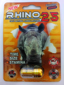 Genuine Rhino 25 Titanium 9000 Male Enhancement Sexual Performance Enhancer