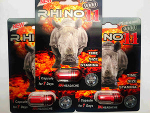 Genuine Rhino 11 Platinum 9000 Male Enhancement Sexual Performance Enhancer